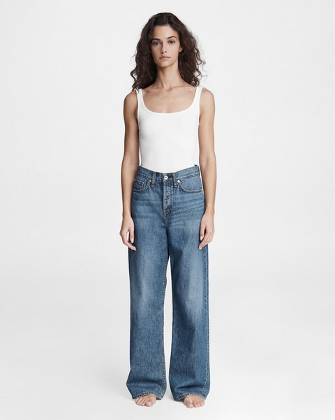 RAG & BONE Logan Low-Rise Wide Leg Jean
