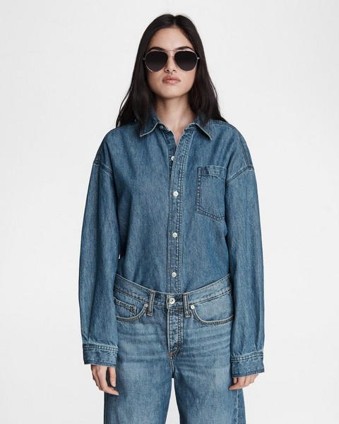 RAG & BONE Oversized Cotton Linen Shirt