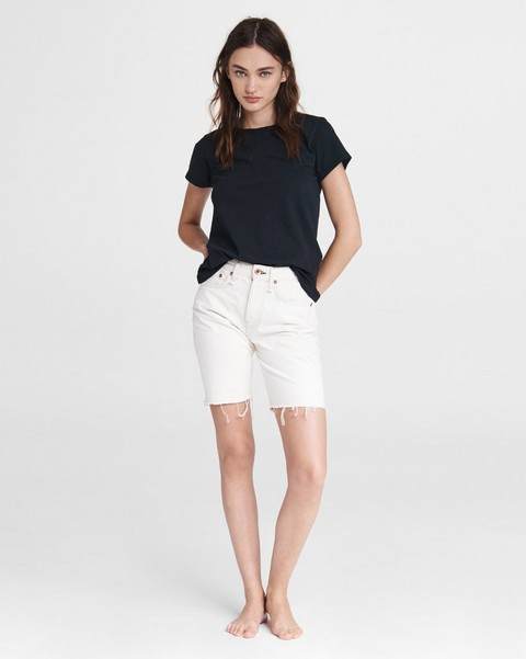RAG & BONE Maya High-Rise Walking Short - Ecru