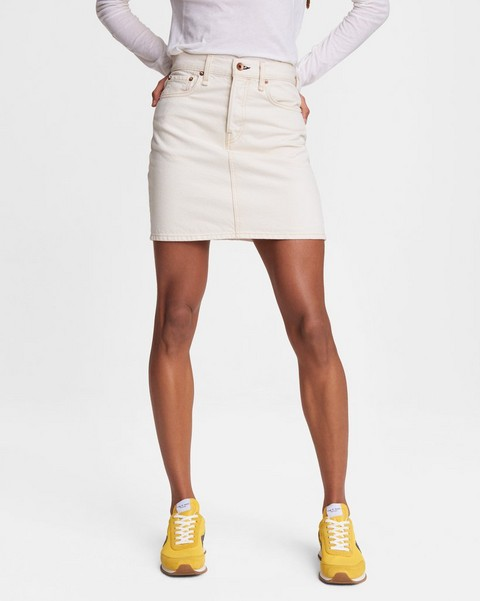 RAG & BONE High-Rise Mini Skirt - Ecru