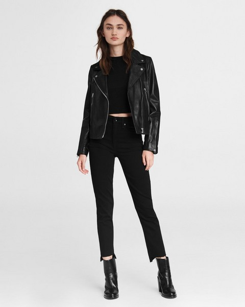 RAG & BONE Nina High-Rise Cigarette - Black