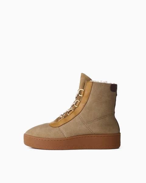 RAG & BONE Oslo Lace Up Boot - Shearling