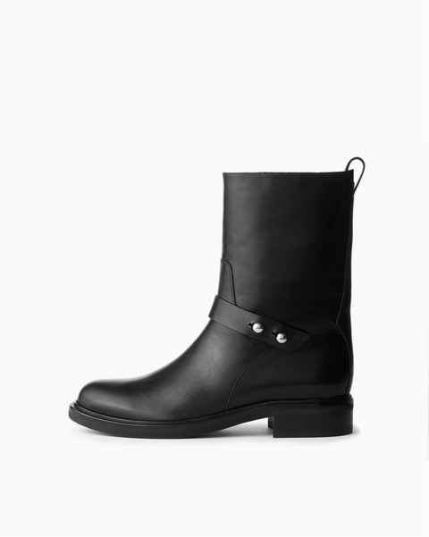 RAG & BONE Slayton Moto Boot - Burnished Leather
