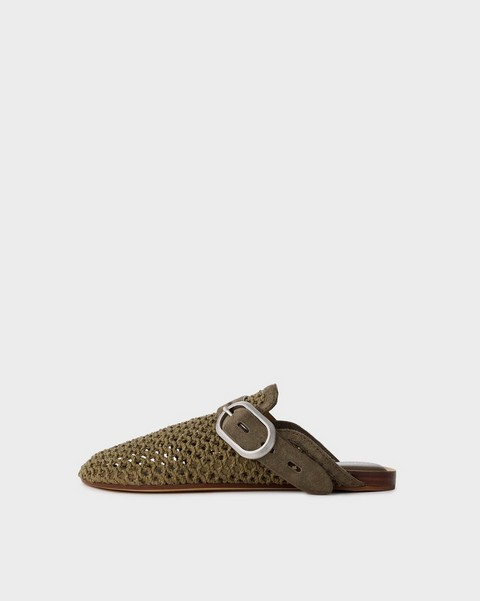 RAG & BONE Ansley Slide - Leather and Recycled Materials