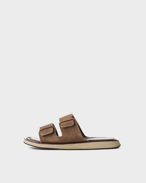 RAG & BONE Parker Slide - Suede and Sheep Nappa