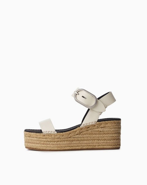 RAG & BONE Ansley Buckle Espadrille - Leather