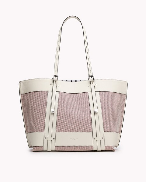 RAG & BONE FIELD TOTE STRIPED CANVAS