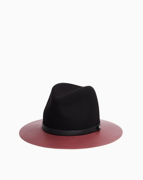 RAG & BONE Floppy Leather Brim Fedora