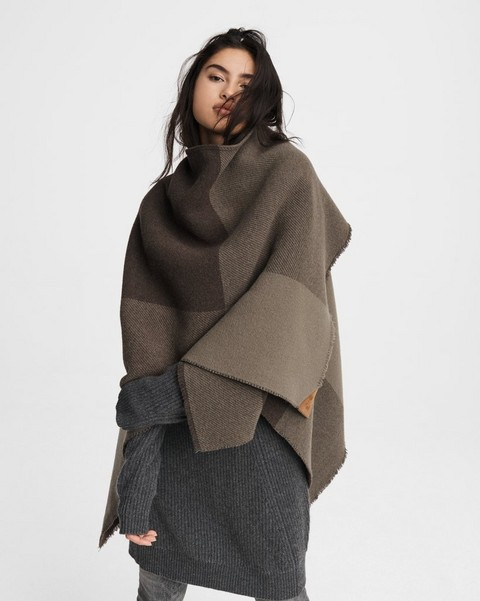 RAG & BONE Camden Wool Reversible Poncho