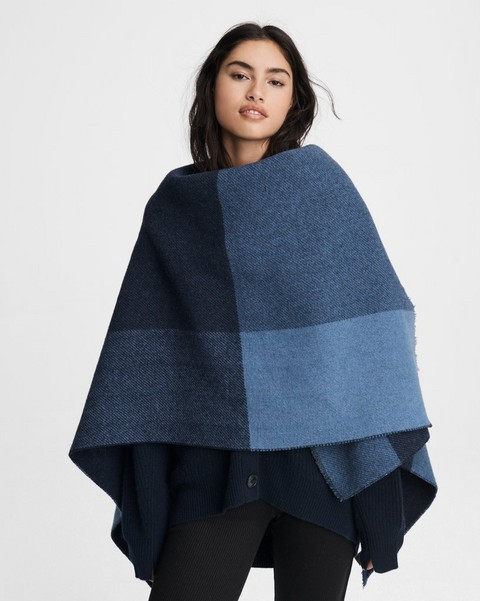 RAG & BONE Reversible Wool Camden Poncho