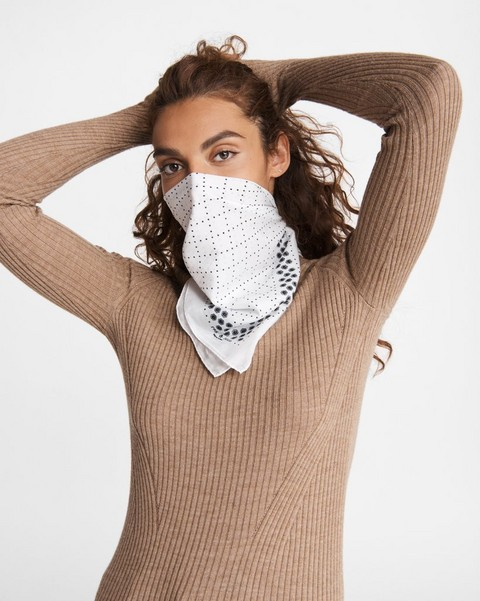 RAG & BONE Medallion Cotton Silk Bandana Mask