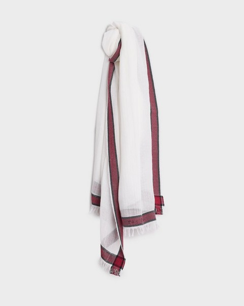 RAG & BONE Lance Cotton Logo Scarf