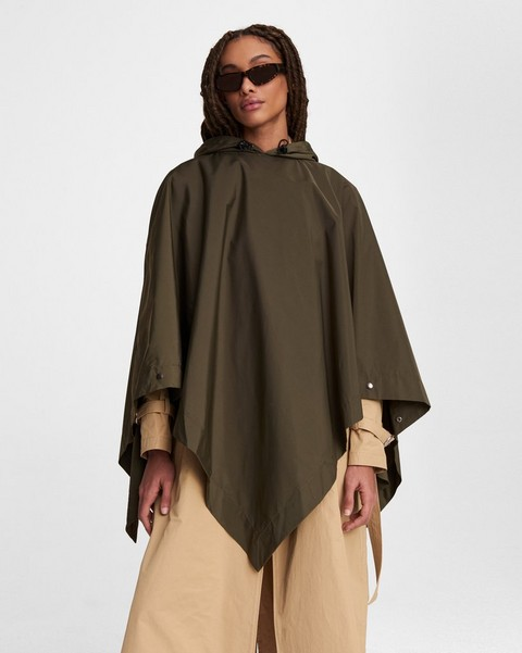 RAG & BONE Addison Rain Poncho - Recycled Materials