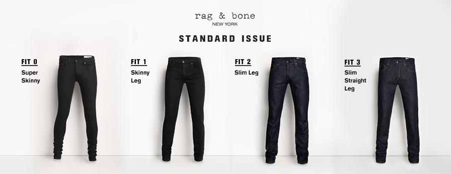 Standard Issue Fit Guide rag & bone  rag & bone