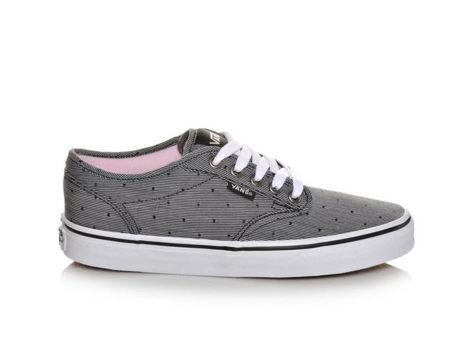 womens vans atwood low gray textile