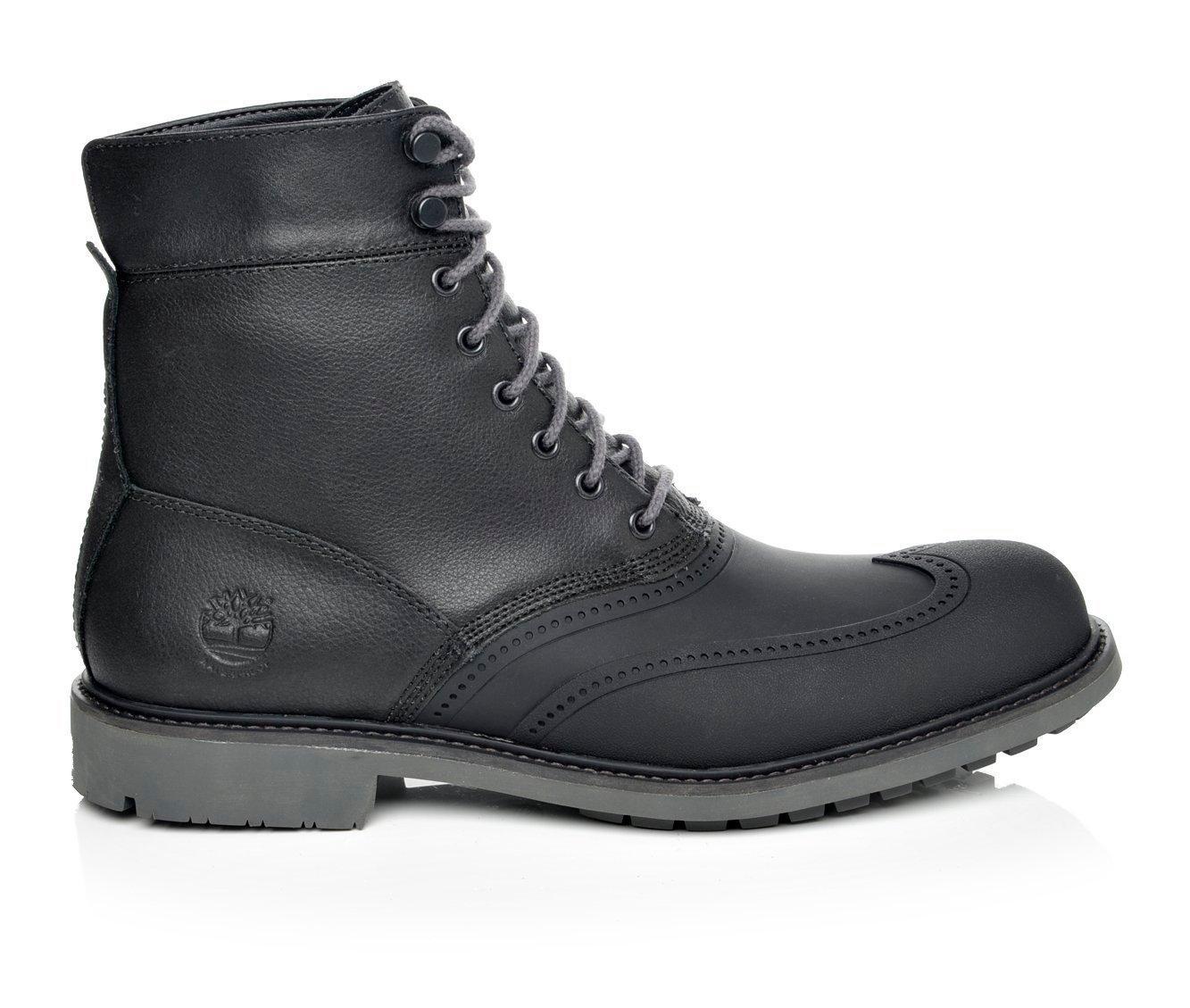brown timberland wingtip boots