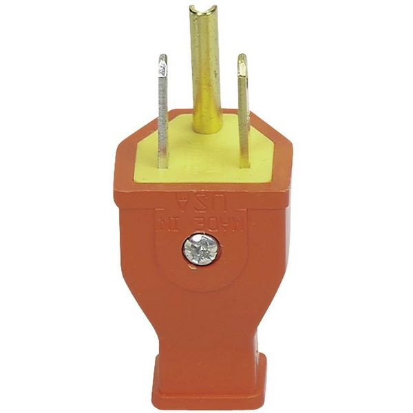 Cooper Wiring 3-Wire Grounded Plug | COOPSA399O | Build With BMC on 3 wire regulator wiring, 3 wire motor wiring, 3 wire receptacle wiring, 3 wire wiring harness, 3 wire thermostat wiring, 3 wire gauge wiring, 3 wire pump wiring, 3 wire jack wiring, 3 wire fan wiring,