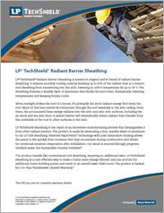 LP® TechShield® Radiant Barrier Information Sheet