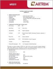 ARTRIM PVC MSDS Brochure