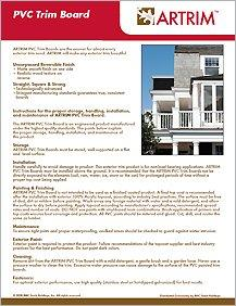 ARTRIM PVC Trim Boards Information Sheet