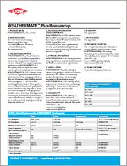 Dow - Weathermate Plus Housewrap