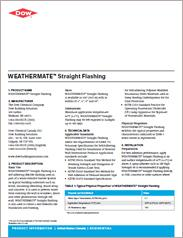 Dow - Weathermate Straight Flashing