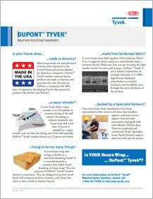 DuPont™ Tyvek® Weather-Resistant Barriers