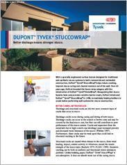 Dupont™ Tyvek® StuccoWrap® Better Drainage