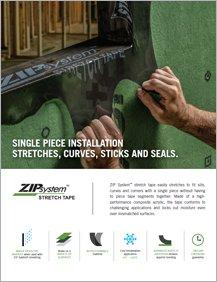 Zip System® Stretch Tape Sales Sheet