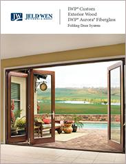 JELD-WEN® IWP® Custom Exterior Wood and IWP Aurora® Fiberglass Folding Door System