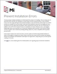 MI Prevent Installation Errors