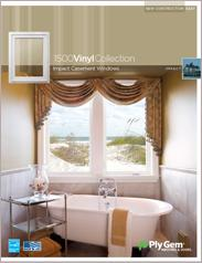Ply Gem® 1500 Vinyl Collection Impact Casement Windows Spec Sheet - East
