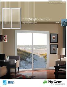 Ply Gem® 1500 Vinyl Collection Impact Patio Doors Spec Sheet - East