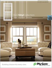 Ply Gem® 1500 Vinyl Collection Single Hung Impact Windows Spec Sheet - East