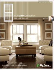 Ply Gem® 1500 Vinyl Collection Single Hung Windows Spec Sheet - East
