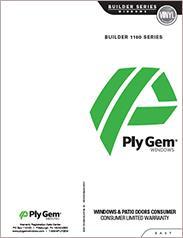 Ply Gem® Builder 1100 Series Window Warranty - East