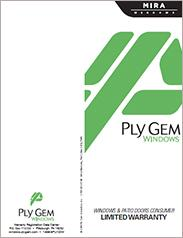 Ply Gem® MIRA Windows and Patio Doors Warranty