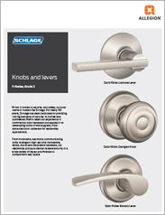 Schlage® F-Series Knobs & Levers