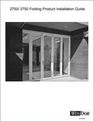WinDor Folding Doors Installation Guide
