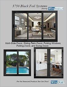 WinDor WinShield 3750 Black Foil Doors