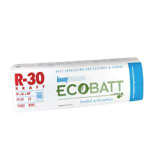 Knauf EcoBatt® R15 Kraft-Faced High Density Insulation Batt