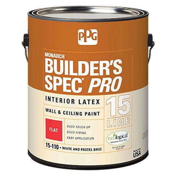 Ppg Builders Spec Pro Interior Latex Flat Paint Ppg1511001