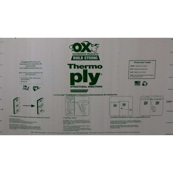 Thermo-Ply® R 13 Green Grade Sheathing | TP1848348G | Build With BMC