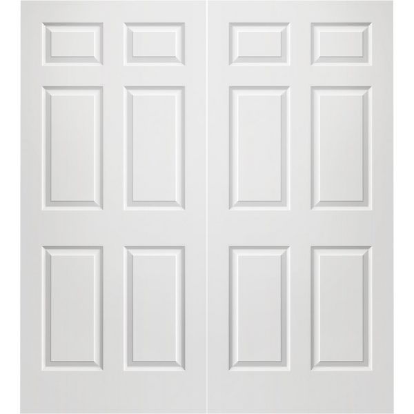 Prehung Interior Double Colonist 6 Panel Door W Ball Catch