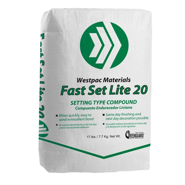Westpac Materials Fast Set 20 Lite Joint Compound Wes22165 Build With Bmc