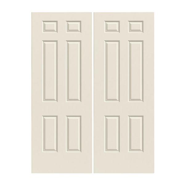 Prehung Exterior Steel 6 Panel Double Doors Ws60050tlamp180dbsn Build With Bmc