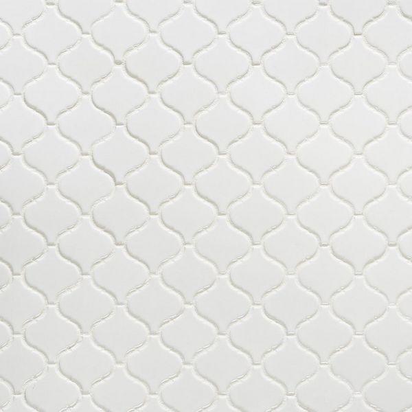 Lantern Porcelain Moscaic Tile | WSGLANWHT1212 | Build With BMC