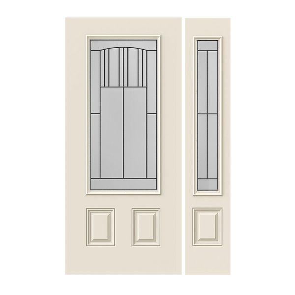 Prehung Exterior Smooth-Pro Door w/ 3/4-Lite Madison Glass