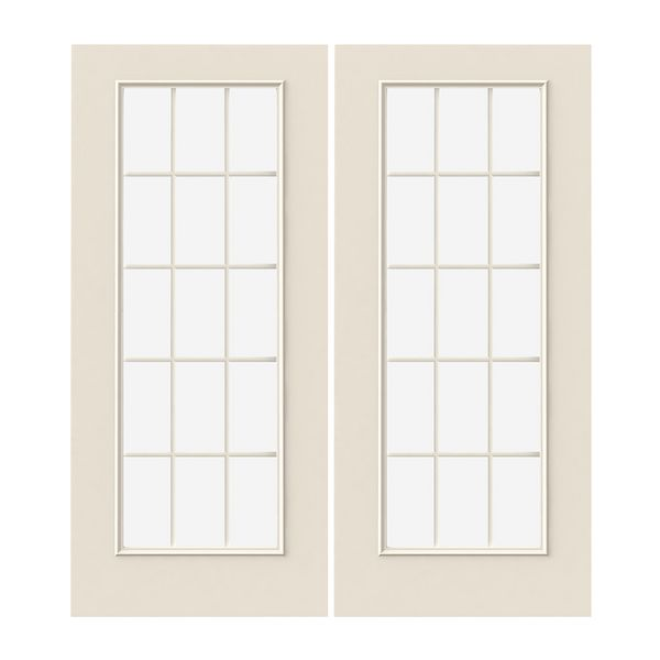 Prehung Exterior Steel 15 Lite Double Doors Wstared2354239 Build With Bmc