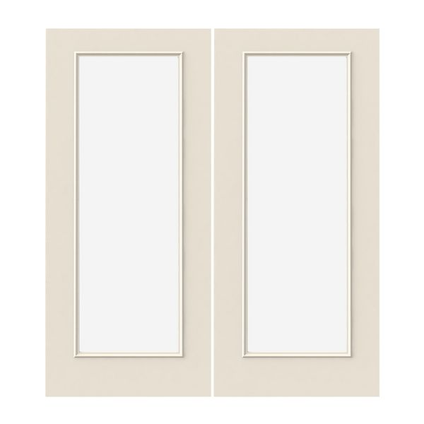Prehung Exterior Steel Full Lite Double Doors W Low E Glass Wstared2592004 Build With Bmc